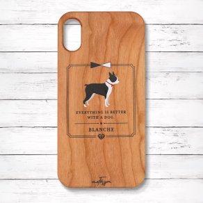 ボストンテリア(Classical) 木製iPhoneケース