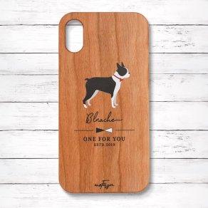 ボストンテリア(Simple) 木製iPhoneケース