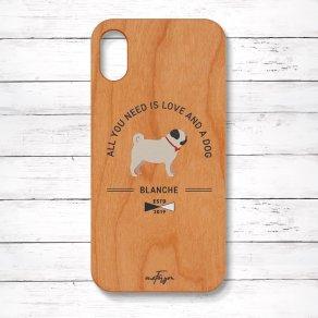 パグ フォーン(Basic) 木製iPhoneケース