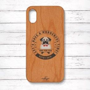 パグ フォーン(Emblem) 木製iPhoneケース