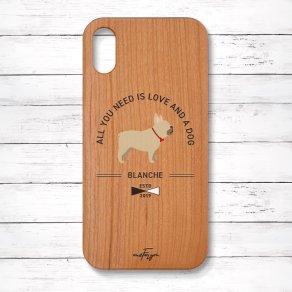 フレンチブルドッグ フォーン(Basic) 木製iPhoneケース