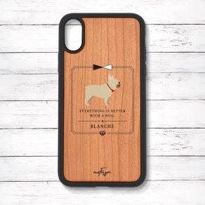 フレンチブルドッグ フォーン(Classical) 衝撃吸収タイプ 木製iPhoneケース