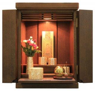 仏壇 ミニ仏壇 モダン仏壇 仏具一式セット コンパクト たまゆらりん モダン仏具 ゆい花(丸香炉)  洋風 リアン14号