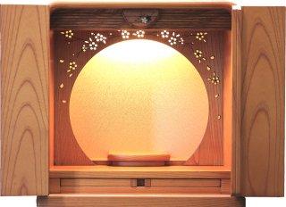 仏壇 ミニ仏壇 モダン仏壇 コンパクト かぐや 12号 本欅 桜の透かし彫り