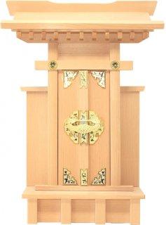 神棚 大神宮 袖付 雲シール付  日本製 国産桧 送料無料