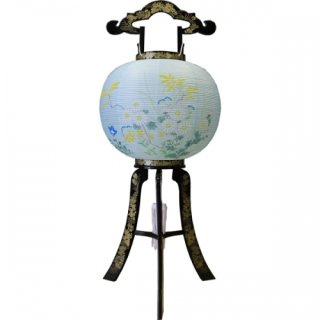盆提灯 (盆ちょうちん) 行灯 花印蒔絵 11号 送料無料