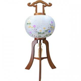 盆提灯 (盆ちょうちん)  行灯 雅木目 11号 絹二重 簡単組立 送料無料
