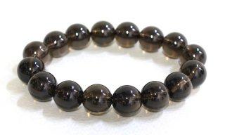 腕輪数珠 茶水晶 大珠 12mm ブレスレット 全宗派対応 送料無料