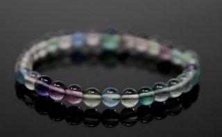 腕輪数珠 蛍石 ブレスレット 全宗派対応 送料無料