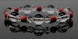 腕輪数珠 水晶 バラ貴石 ブレスレット 全宗派対応 京念誦   送料無料