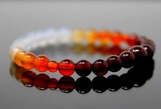 腕輪数珠 瑪瑙グラデーション ブレスレット 全宗派対応 京念誦 送料無料