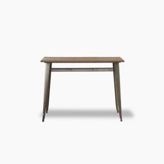 古材とスチールのハイテーブル