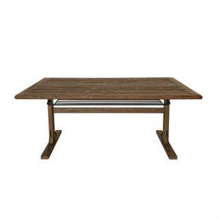 杉古材の棚付きダイニングテーブル