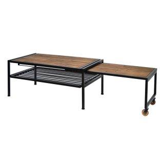 横に伸ばすことができるリビングテーブル