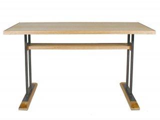 オーク材とスチールのコンビネーションLDテーブル