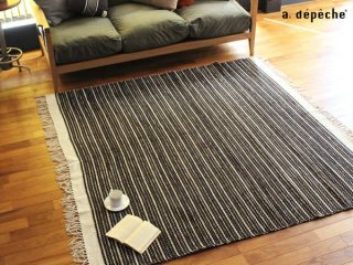 綿を繊細に、丁寧に織り上げ、薄手に仕上げたラグ 200x200