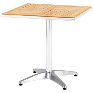 アルミと天然木のガーデンテーブル70