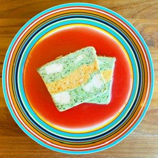 (単品)�ササミと緑黄色野菜のテリーヌ[かぼちゃのソース付き]