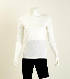 日本製 Uネック7分袖シャツ レディース ナノミックス  | 日本アトピー協会推薦品 肌荒れしない 消臭抗菌  敏感肌 むれない かゆくならない
