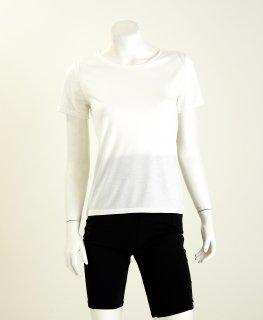 日本製 Uネック半袖シャツ レディース ナノミックス  | 日本アトピー協会推薦品 肌荒れしない 消臭抗菌  敏感肌  むれない かゆくならない