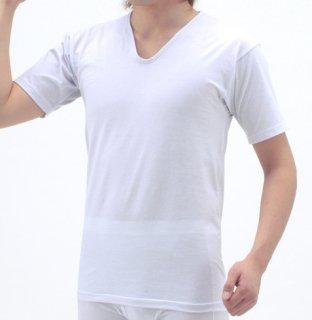 日本製 半袖インナーシャツ メンズ  ナノミックス | 日本アトピー協会推薦品 インナー トップス 吸水速乾  消臭抗菌 特許 肌にやさしい かぶれない ムレない