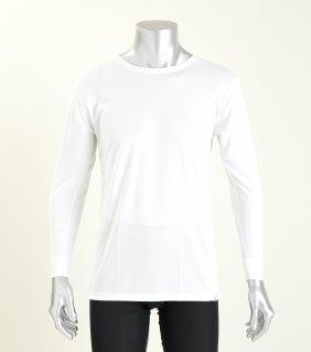 日本製 コンフォータブルTシャツ(長袖) メンズ  ナノミックス |  インナー トップス  吸水速乾 消臭抗菌 特許 肌にやさしい かぶれない ムレない 縫い代