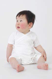 日本製 カバーオール型ベビー肌着 ナノミックス  | 日本アトピー協会推薦品 子ども用 敏感肌 春夏 秋冬 冷房 保温 薄手 吸水速乾 ベビー服 赤ちゃん