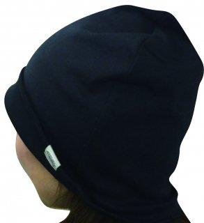 日本製 薄手リバーシブルキャップ ナノミックス 黒|日本アトピー協会推薦品 乾燥肌 敏感肌 医療用 抗がん剤 術後ケア 薄毛隠し 白髪隠し