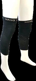 日本製 レッグサポーター(ひざ) ナノミックス 黒 2枚|日本アトピー協会推薦品 乾燥肌 敏感肌 かゆくならない ムレない 消臭抗菌 吸水速乾 加圧 立ち仕事 介護