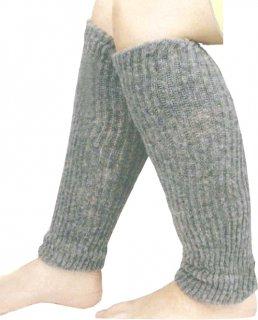 日本製 レッグウォーマー ナノミックス 2枚 グレー | 日本アトピー協会推薦品 遠赤外線 マイナスイオン 秋冬 冷え性 薄手 吸水速乾  保温 肌にやさしい かぶれない ムレない