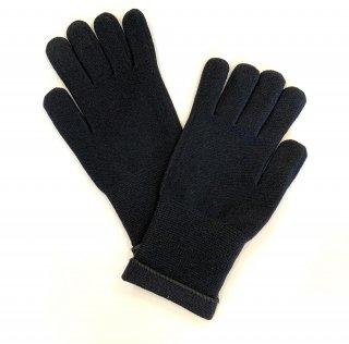 日本製 おやすみ手袋(おとな用) ナノミックス 綿混 黒 |日本アトピー協会推薦品 かゆみ・かぶれ対策 消臭抗菌 吸水速乾 UVカット