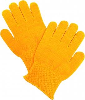 日本製 子ども用おやすみ手袋 ナノミックス イエロー|日本アトピー協会推薦品 薄手 吸水速乾 消臭抗菌