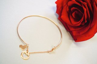 <img class='new_mark_img1' src='https://img.shop-pro.jp/img/new/icons50.gif' style='border:none;display:inline;margin:0px;padding:0px;width:auto;' />K18 【Heart】Rose-Gold ブレスレット