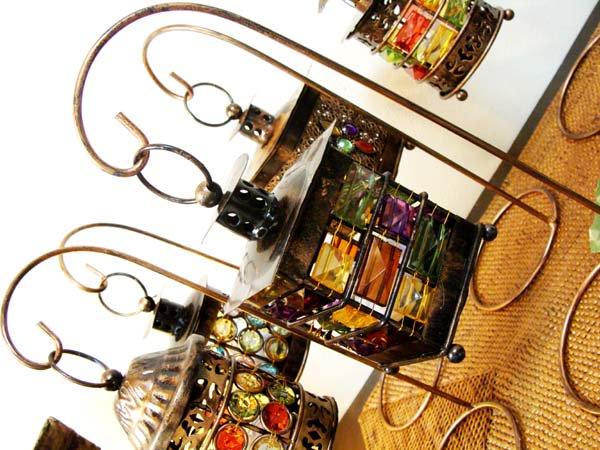 モザイクビーズのランタン(LED付・吊りタイプ) 全5タイプ