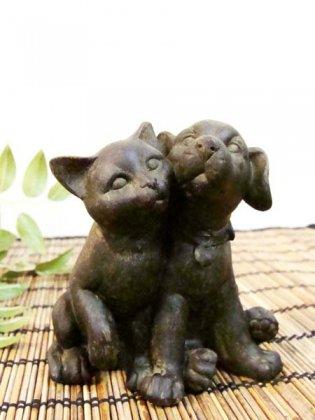 仲良しオブジェ(ネコ・犬)