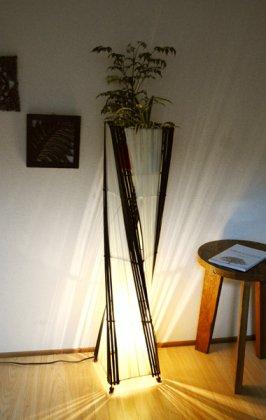 バンブーとコットントルネードランプL(花台付き100cm)