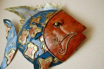 【11月下旬入荷予定】バリ島のアイアンお魚オブジェ(壁掛けタイプ)