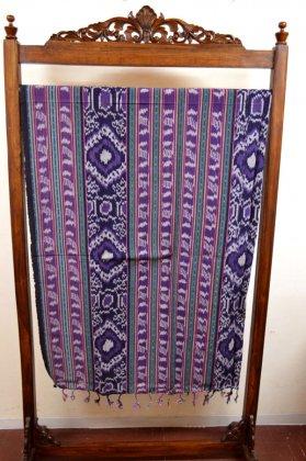 バリ島の手織りイカット布Eタイプ(セミダブルサイズ 200cm×120cm)