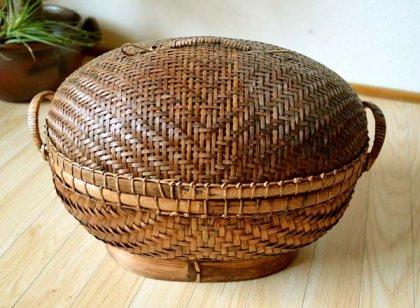 バリ島のオーバルバスケット(Lサイズ)