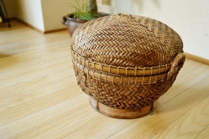 バリ島のオーバルバスケット(Mサイズ)