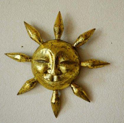 にっこり太陽(アンティークゴールド)