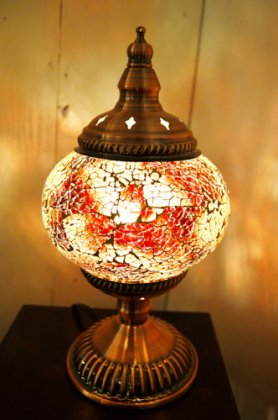 モザイクガラスのアラビアンランプ(3色)