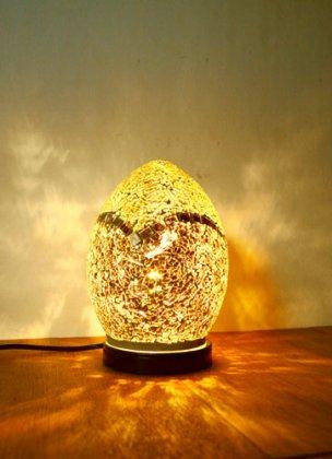 モザイクガラスエッグランプ(全3色)