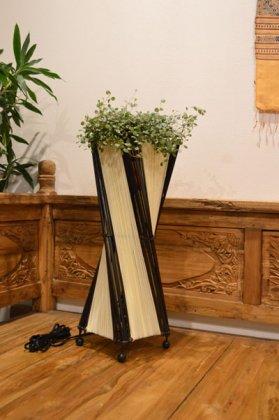 バンブーとコットンのトルネードランプM50cm(花台付)ホワイト