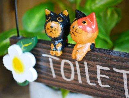 ネコのトイレプレート