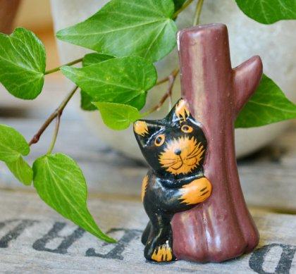 アニマルカードホルダー(黒ネコ)
