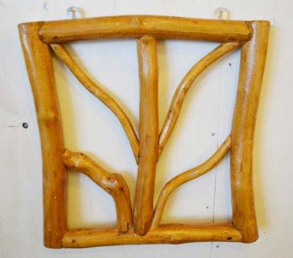 チークの根のレリーフ正方形(ナチュラル)