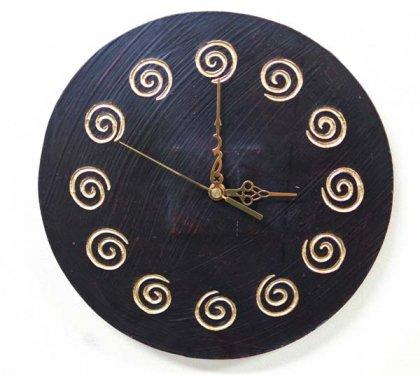 スパイラル壁掛け時計