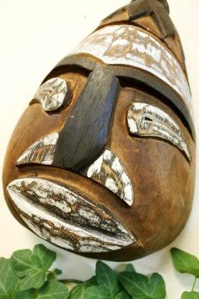 アンティーク調のトボケ顔のマスクL(F)