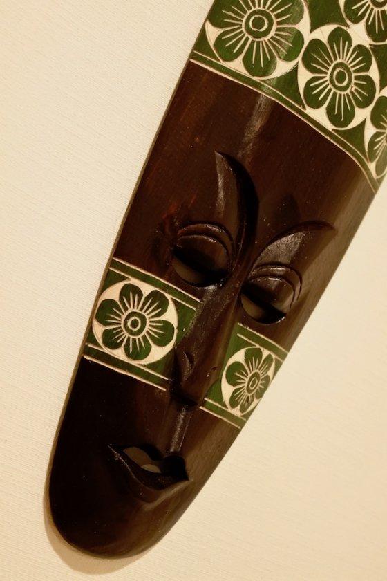 ロンボクフラワーマスク50cm(グリーン)